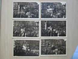 """Dj/85 -  Lot 6 CPA Sépia, Très Animées:  CHALON-sur-SAONE - Fêtes De Carnaval 1936"""" - Chalon Sur Saone"""