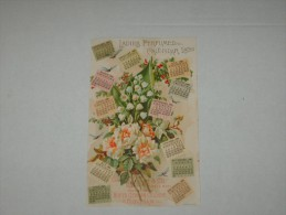 CARTE PARFUMEE Scented Old Parfum CALENDRIER 1890 Cpa LADIE PERFUMED CALENDAR HOYT GERMAN Usa CHROMO LITHOGRAPHIE - Antiquariat (bis 1960)