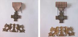 Medaille Croix Du Combattant  + Petit Plaque A Identifier - France