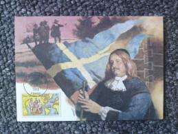 1988 Joint Finland / Sweden / USA - 350th Anniv. New Sweden Settlement, Delaware. US Fleetwood FDC Maxi-card - Emissioni Congiunte