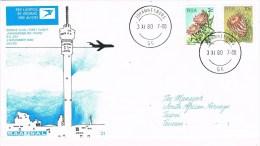 9887. Carta JOHANNESBURH (south Africa) 1980. First Flight To Taipei - África Del Sur (1961-...)