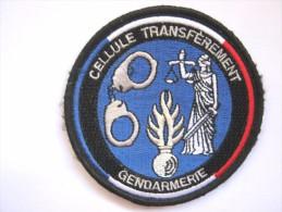 RARE INSIGNE TISSUS PATCH GENDARMERIE NATIONALE CELLULE DE TRANSFEREMENT MAISON D'ARRET (VELCRO)