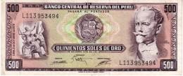 Peru P.110 500 Soles 1975 Xf+ - Perú