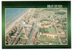 REF 188  : CPSM 59 Bray Dunes Vue Générale Aérienne - Bray-Dunes