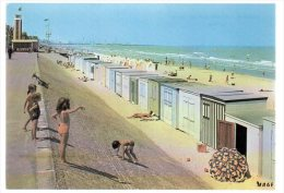 REF 188  : CPSM 59 DUNKERQUE LA PLAGE - Dunkerque