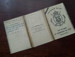 Kaart Met Opgave Der Oorlogsdiensten Voor Strijder 1940 - 1945 Peeters Georges Berchem 11.12.1912 ( Details Zie Foto ) ! - Old Paper