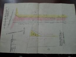 Gemeente Waasmunster Sectie C ( Weg Lokeren Waasmunster ) LANDMETER DOSSCHE 1937 ( Details See Photo ) !! - Maps