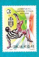 [DC0524] CARTOLINEA - JUVE - JUVENTUS CAMPIONE D'ITALIA - RIPRODUZIONE DEL FRANCOBOLLO EMESSO PER L'AVVENIMENTO - Calcio