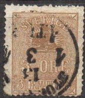 SUEDE - 3 ö. De 1862-66 Oblitéré Défectueux - Suède