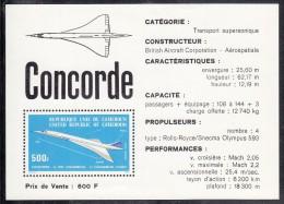 Cameroun MNH Scott #C232a Souvenir Sheet 500fr Concorde And Route - Paris-Dakar-Rio De Janeiro - Cameroun (1960-...)