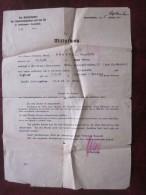 Militaria Guerre 39/45 MITTEILUNG Saarbrucken 5 Sept 1940  D'ordres De Mission Type De Transport Allemand Zdeone Occupée - Documenti