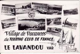 Carte Postale Photo LE LAVANDOU (Var) Village Camp De Vacances Du Touring Club De France - Le Lavandou
