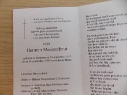 Doodsprentje Herman Meersschaut Wetteren 24/9/1957 Heule 18/9/1995 - Religion &  Esoterik