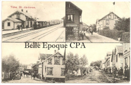 Norway - TIME  - St. Jaederen - STASJON / TRAIN STATION / ANIMATION ++ To PORTLAND, Oregon, USA, 1910 +++ RARE / TOP - Norvegia