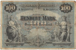 Bavaria Germany State #S922, 100 Marks 1900 Banknote Currency - [ 2] 1871-1918 : Duitse Rijk