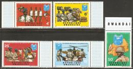 Rwanda 1972 Mi# 474-478 A ** MNH - The National Guard serving the nation
