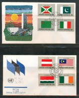 FDC UNO NEW YORK 1984, 1985 - New-York - Siège De L'ONU