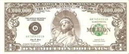BILLETE DE ESTADOS UNIDOS DE 1000000 DOLLARS DE LA ESTATUA LIBERTAD-STATUE OF LIBERTY  (BANK NOTE) FANTASIA-FANTASY - Estados Unidos