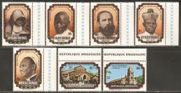 Rwanda 1976 Mi# 792-798 ** MNH - 75th anniv. of the Roman Catholic Church of Rwanda