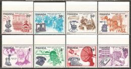 Rwanda 1976 Mi# 807-814 ** MNH - Centenary of first telephone call by Alexander Graham Bell