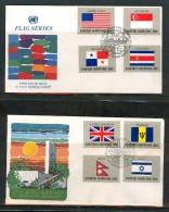 FDC UNO NEW YORK 1981,1983 - New-York - Siège De L'ONU