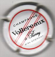 CAPSULE DE CHAMPAGNE VOLLEREAUX  N°1  BLANC NOIR ET ROUGE 1.50 EURO - Sonstige