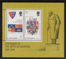 Cayman Islands MNH Scott #353a Souvenir Sheet Of 2 Sir Winston Churchill - Iles Caïmans