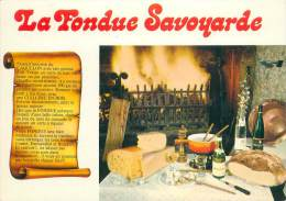CPM - La Fondue Savoyarde - Recettes (cuisine)