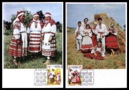 Maxicard Belarus 2011 Mih. 876/77 Traditional Costumes (2 Maxicards) - Wit-Rusland