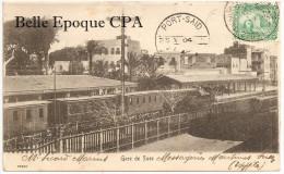 Egypt / Égypte - GARE De SUEZ +++ Vers Clermont-Ferrand, 1904 +++ #15399 +++++ - Suez