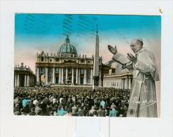 ROMA,P.za S.Pietro Con PIUS PP.  XII-1956 - Piazze