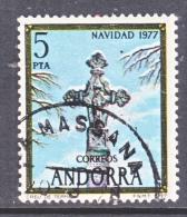 SPANISH  ANDORRA  100    (o)   CHRISTMAS  CROSS - Spanish Andorra