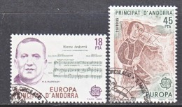 SPANISH  ANDORRA  167-8    (o)   MUSIC - Spanish Andorra
