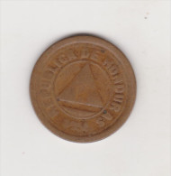 HONDURAS KM71  2 CENTAVOS 1920 BRONZE NICE COIN - Honduras