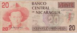 Nicaragua 20 Cordobas ND 1990 Pick 176 - Nicaragua