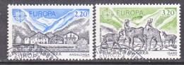 FRENCH  ANDORRA  344-5    (o)   EUROPA - French Andorra