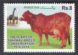 PAKISTAN 2014 MNH 100 Years Of Sahiwal Breed Conservation, COW Mammals Animals Fauna - Pakistan