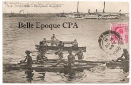 Sri Lanka / Ceylon - COLOMBO - Plongeurs Cingalais +++ Messageries Maritimes, #316 ++++++ To Avranches, FRANCE, 1911 - Sri Lanka (Ceylon)