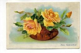 "CPA  FANTAISIE :  FLEURS  Roses  "" Gloire De Dijon ""   A   VOIR  !!! - Autres"