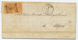 Un Annullo Per Paese - Orani - Numerale A Punti - 1872- Annullo Non Comune - Supporto Con Macchie (vedi Foto) - 1861-78 Vittorio Emanuele II