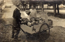 Azay le Rideau carte photo marchand des 4 saisons Mr Joffre nombreuses r�compenses vieux m�tiers des rues