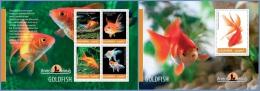 ugn14205ab Uganda 2014 Fish Goldfish 2 s/s