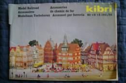 PCH/82 Catalogo KIBRI Model Railroad - Accessories 1991-92/treni/ferrovie/HO + N + Z - Catalogi