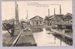 MONTCEAU - LES - MINES . Entrée Du Port . Usine Des Agglomérés . - Montceau Les Mines