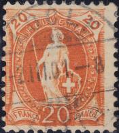 Heimat NE (Le) LOCLE 1901-03-02 Voll-Stempel Auf 20Rp Stehende Helvetia Zu#66D - 1882-1906 Armoiries, Helvetia Debout & UPU