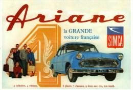 CPM  -     L´Automobile Française  -   SIMCA ARIANE   D'après Buvard D'Epoque - Voitures De Tourisme