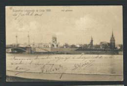 BELGIQUE CARTE POSTALE OFFICIELLE  EXPOSITION UNIV. LIEGE 1905-VUE GENERALE - Liege