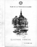 77 - LA FERTE SOUS JOUARRE- CLUB ROTARY- GLASTANN FIRMITAS -1964- MENU DANS LES CAVES MOET ET CHANDON -51- EPERNAY- - Menus