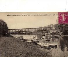 Morannes Batellerie Bateau Barques Péniche Gabarre Dragueuse Pont Métallique Peche - Ohne Zuordnung
