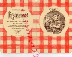 """75015- 75 PARIS - BEAU MENU """" LA PAYSANNE """" 53 BD VICTOR- PORTE DE VERSAILLES FACE PALAIS DES SPORTS - PAI POILANE -1975 - Menus"""